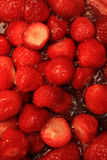 Strawberry pile Stock Photo