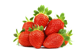 Strawberry pile isolated Royalty Free Stock Image