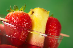 Strawberry and Pineapple Garnish Royalty Free Stock Photos