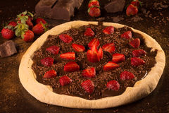 Strawberry Pizza Dessert Stock Photography