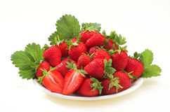 Strawberry on plate Royalty Free Stock Photos