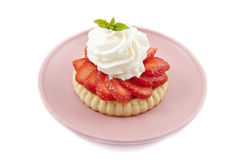 Strawberry plate Stock Images