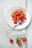 Strawberry in plate Royalty Free Stock Image