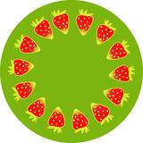 Strawberry on plate Stock Images