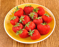 Strawberry on the plate Stock Photo