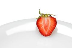 Strawberry on plate Stock Photo