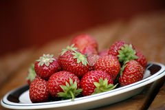 Strawberry in a plate Royalty Free Stock Images