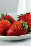Strawberry on a plate Royalty Free Stock Image