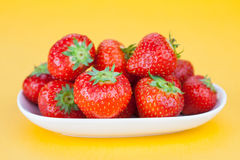Strawberry on plate Stock Photography