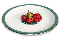 Strawberry on the plate Royalty Free Stock Photography