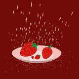 Strawberry on a plate Stock Image