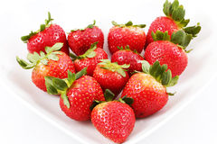 Strawberry in plate Royalty Free Stock Photos