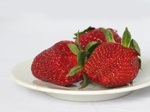 Strawberry on a plate Royalty Free Stock Photography