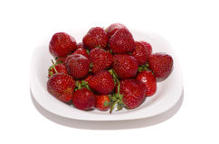 Strawberry on plate Stock Image