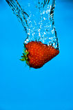 Strawberry Plunge Royalty Free Stock Photography
