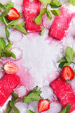 Strawberry popsicle Stock Photography