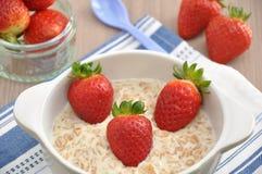 Strawberry Porridge Royalty Free Stock Photography