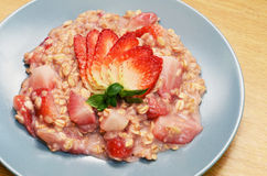 Strawberry porridge Royalty Free Stock Image
