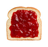 Strawberry Preserves on Bread Royalty Free Stock Photos