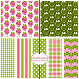 Strawberry Pattern. Seamless repeating patterns - Strawberry Prints Stock Images