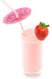 Strawberry protein cocktail Royalty Free Stock Photo