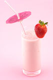 Strawberry protein cocktail Stock Photography
