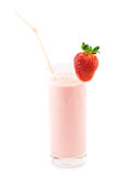Strawberry protein cocktail Royalty Free Stock Photos
