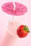 Strawberry protein cocktail Stock Photos