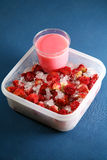 Strawberry pudding Royalty Free Stock Images
