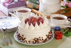 Strawberry pudding cake royalty free stock photography