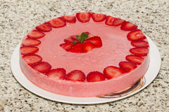 Strawberry pudding stock photography