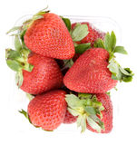 Strawberry punnet - from above Stock Photos