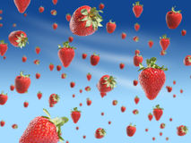 Strawberry rain Stock Images