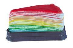 Strawberry rainbow crepe cake Royalty Free Stock Photography