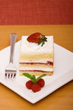Strawberry and raspberry cake Royalty Free Stock Images