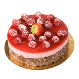 Strawberry and raspberry cake Royalty Free Stock Image