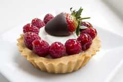 Strawberry Raspberry Cheese Cake Royalty Free Stock Images