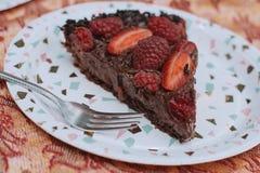 Strawberry raspberry tart royalty free stock photos