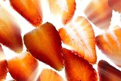Strawberry Ray Cake. Strawberries bursting with vibrant energy Royalty Free Stock Photos