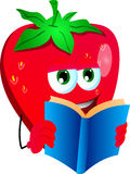 Strawberry reading Royalty Free Stock Images