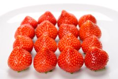 Strawberry rectangle Stock Images