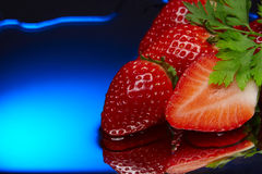 Strawberry red blue aqua diet Stock Photos