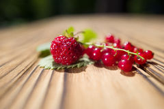 Strawberry and red currant Stock Photo