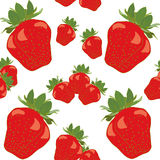 Strawberry Red Fruit Berry Colorful Seamless. Pattern Vector Illustration Royalty Free Stock Photography
