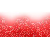 Strawberry red graphic art abstract background illustration Royalty Free Stock Image
