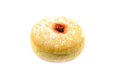 Strawberry Red Jam Doughnut isolated on white background Royalty Free Stock Photography