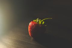 Strawberry. Red strawberry on the table Stock Photography