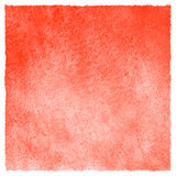 Strawberry red watercolor square fill with rough edge Royalty Free Stock Image