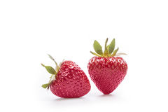 Strawberry. Red strawberry on a white background with clipping path Royalty Free Stock Images