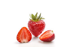 Strawberry. Red strawberry on a white background with clipping path Stock Images